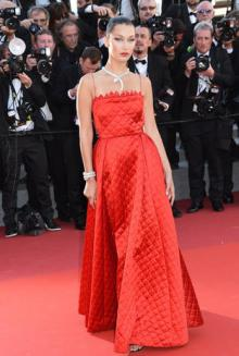 CANNES, FRANCE - MAY 19: Bella Hadid attends the 'Okja' Screening during the 70th annual Cannes Film Festival at Palais des Festivals on May 19, 2017 in Cannes, France. (Photo by Foc Kan/FilmMagic)