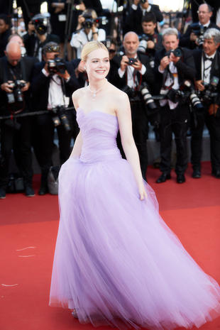 "CANNES, FRANCE - MAY 24: Elle Fanning attends the ""The Beguiled"" screening during the 70th annual Cannes Film Festival at Palais des Festivals on May 24, 2017 in Cannes, France. (Photo by Kristina Nikishina/Epsilon/Getty Images)"