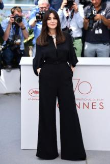 CANNES, FRANCE - MAY 17: Italian actress Monica Bellucci poses for the Mistress of Ceremony photocall at the 70th annual Cannes Film Festival in Cannes, France on May 17, 2017. (Photo by Mustafa Yalcin/Anadolu Agency/Getty Images)