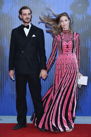 VENICE, ITALY - SEPTEMBER 01: Pierre Casiraghi and Beatrice Borromeo attend the Franca Sozzanzi Award during the 74th Venice Film Festival on September 1, 2017 in Venice, Italy. (Photo by Stefania D'Alessandro/WireImage)
