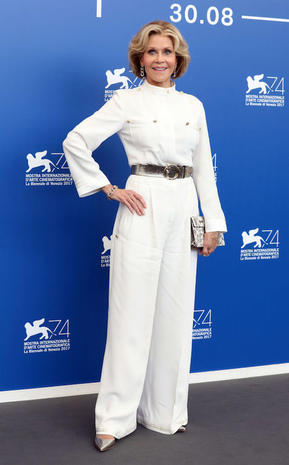 VENICE, ITALY - SEPTEMBER 01: Jane Fonda attends the 'Our Souls At Night' photocall during the 74th Venice Film Festival on September 1, 2017 in Venice, Italy. (Photo by Elisabetta A. Villa/WireImage)