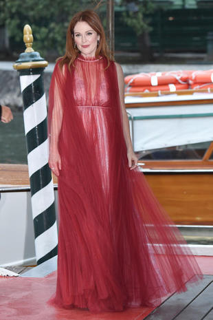 VENICE, ITALY - SEPTEMBER 01: Julianne Moore is seen during the 74. Venice Film Festival on September 1, 2017 in Venice, Italy. (Photo by Jacopo Raule/GC Images,)