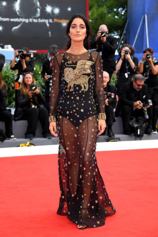 VENICE, ITALY - SEPTEMBER 04: Levante walks the red carpet ahead of the 'Una Famiglia' screening during the 74th Venice Film Festival at Sala Grande on September 4, 2017 in Venice, Italy. (Photo by Venturelli/WireImage)