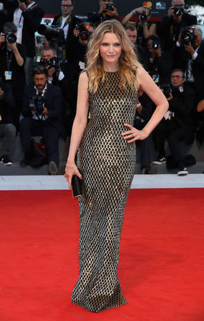 VENICE, ITALY - SEPTEMBER 05: Michelle Pfeiffer walks the red carpet ahead of the 'mother!' screening during the 74th Venice Film Festival at Sala Grande on September 5, 2017 in Venice, Italy. (Photo by Elisabetta A. Villa/WireImage)