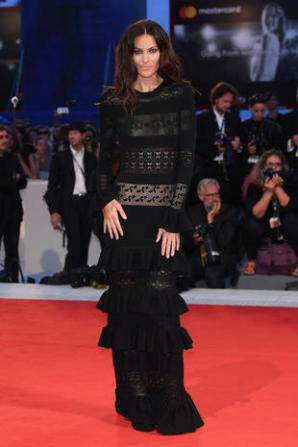 VENICE, ITALY - SEPTEMBER 04: Paola Turani walks the red carpet ahead of the 'Three Billboards Outside Ebbing, Missouri' screening during the 74th Venice Film Festival at Sala Grande on September 4, 2017 in Venice, Italy. (Photo by Venturelli/WireImage)