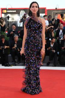 VENICE, ITALY - AUGUST 30: Rebecca Hall walks the red carpet ahead of the 'Downsizing' screening and Opening Ceremony during the 74th Venice Film Festival at Sala Grande on August 30, 2017 in Venice, Italy. (Photo by Pascal Le Segretain/Getty Images)