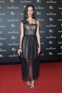 VENICE, ITALY - SEPTEMBER 05: Rebecca Hall arrives for the Jaeger-LeCoultre Gala Dinner during the 74th Venice International Film Festival at Arsenale on September 5, 2017 in Venice, Italy. (Photo by Dominique Charriau/WireImage for Jaeger-LeCoultre)
