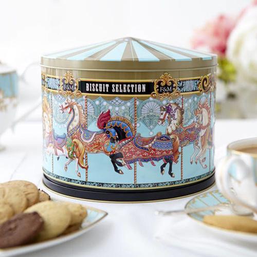 Merry Go Round Musical Biscuit Tin - Fortnum & Mason